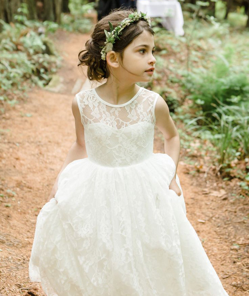 Popular Ivory Lace Flower Girl Dresses-Buy Cheap Ivory Lace Flower ...