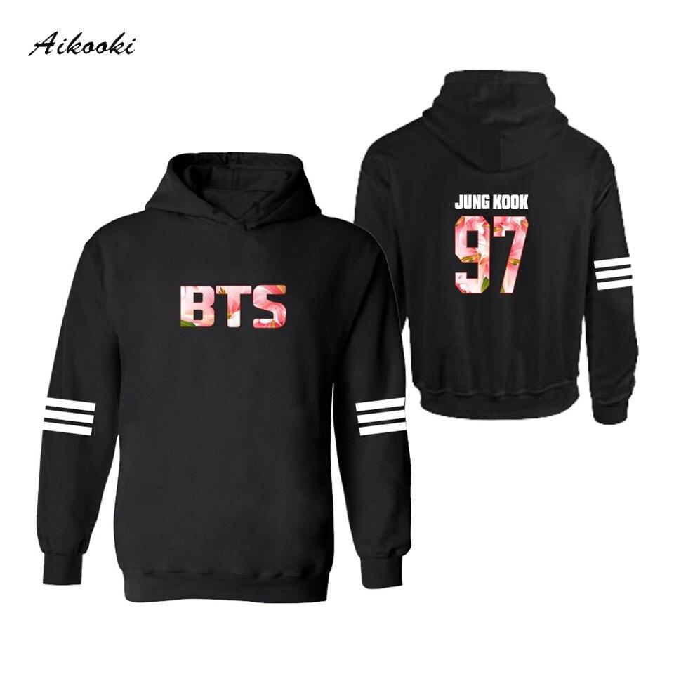 2018 Stars BTS Classic Hooded Men Hoodies Women/Men BTS Bangtan Boys Women Hoodies Mens Sweatshirts Hoody Couple clothes