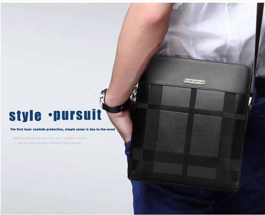 3a84fe939a651 2018 جديد أزياء الرجال حقيبة جلدية الرجال حقيبة كتف الرجال الأعمال الرجال  الفاخرة العلامة التجارية حقيبة عالية الجودة الكتف MessengerBag
