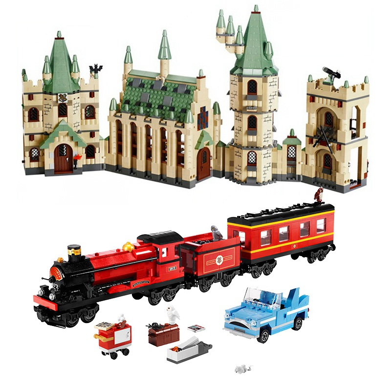 Classic LEPIN 16031 Harry Potter Hogwarts Express Building Blocks Bricks 16030 Castle Kits Set Toys for children Boys Gift 4841 new lepin 22001 pirate ship imperial warships model building kits block briks toys gift 1717pcs