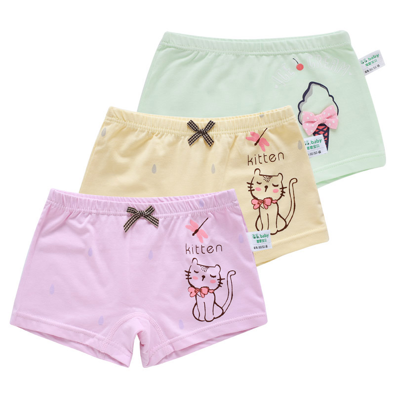 3pcs/lot Toddler Potty Training Pants Reusable Boxers Underwear Kid Girls Baby Girl Pant ...