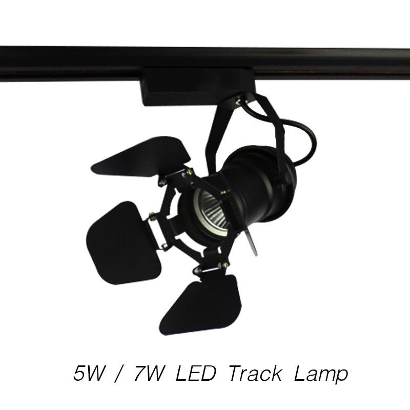 Retro Style Led Ceiling Lights Adjustable Angle Clothing: Art Lamp LED Track Light Personalize Spotlight White
