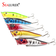 SEALURER Topwater Floating Wobble Plastic Popper Fishing Lure Baits 9CM 13G Fly Pesca Hard Crankbait Tackle
