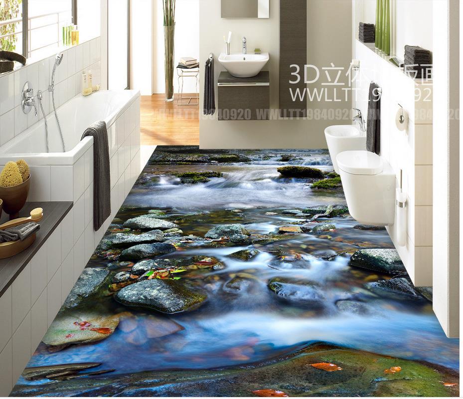 Home Decoration 3D wallpaper floor for living room Custom ...