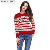 Luxury Brand Designer Runway Sweater 2017 Autumn Winter Fashion Women Loved Letter Sweaters And Pullovers Jumper