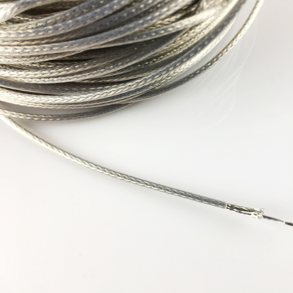 Купить с кэшбэком PTFE Oxygen Free Copper Silvering Braided Shielded Wire For Electric Guitar Bass per meter ( #0056 ) MADE IN KOREA
