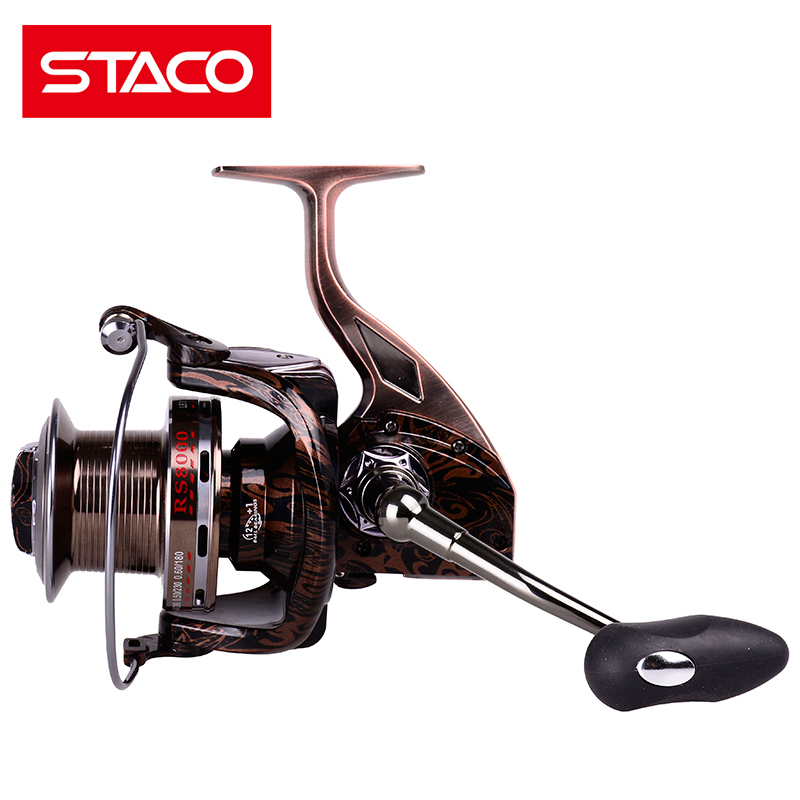 STACO 13BB 4.9:1 Spinning Fishing Reel Metal Seat 4000 5000 6000 7000 8000 9000 Left Right Reel Handle Exchangable Surfing reel