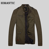 Himantic Brand Casual Male Jacket 2017 Long Stand Collar Zipper Winter Jacket Men High Quality Overcoat