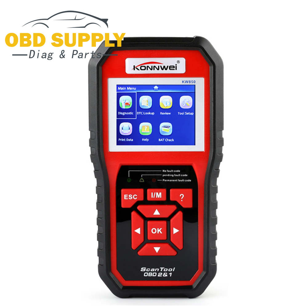 2018 Car OBD2 Scanner Auto Diagnostic Tool KONNWEI KW850 Full OBD 2 Mode Multi-languages Update Free Car Diagnostic Code Reader