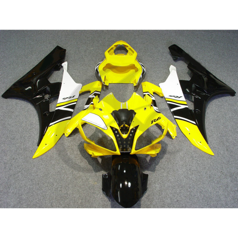 Injection Plastic Fairing Kit For YAMAHA YZF R6 YZF-R6 2006-2007 Yellow Black hot sales yzf600 r6 08 14 set for yamaha r6 fairing kit 2008 2014 red and white bodywork fairings injection molding