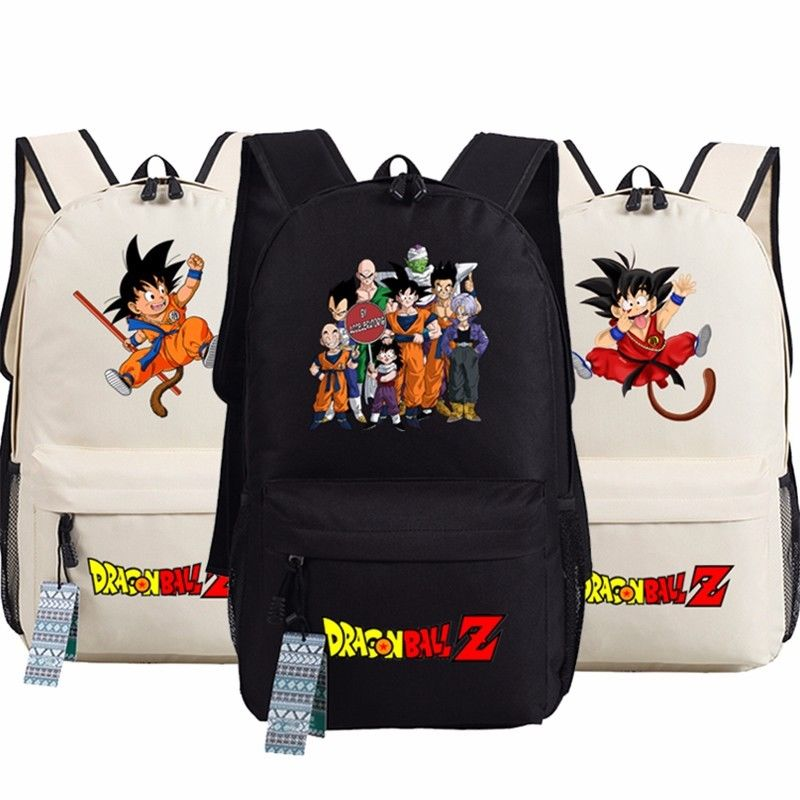 Anime Dragon Ball Z Son Goku Backpack School Book Shoulder Bag Unisex Bag