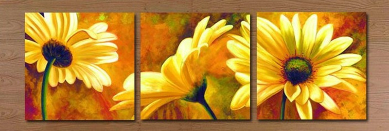 Triptico Cuadros Modernos Modern Home Decor Wall Art Hand Painted Canvas Oil
