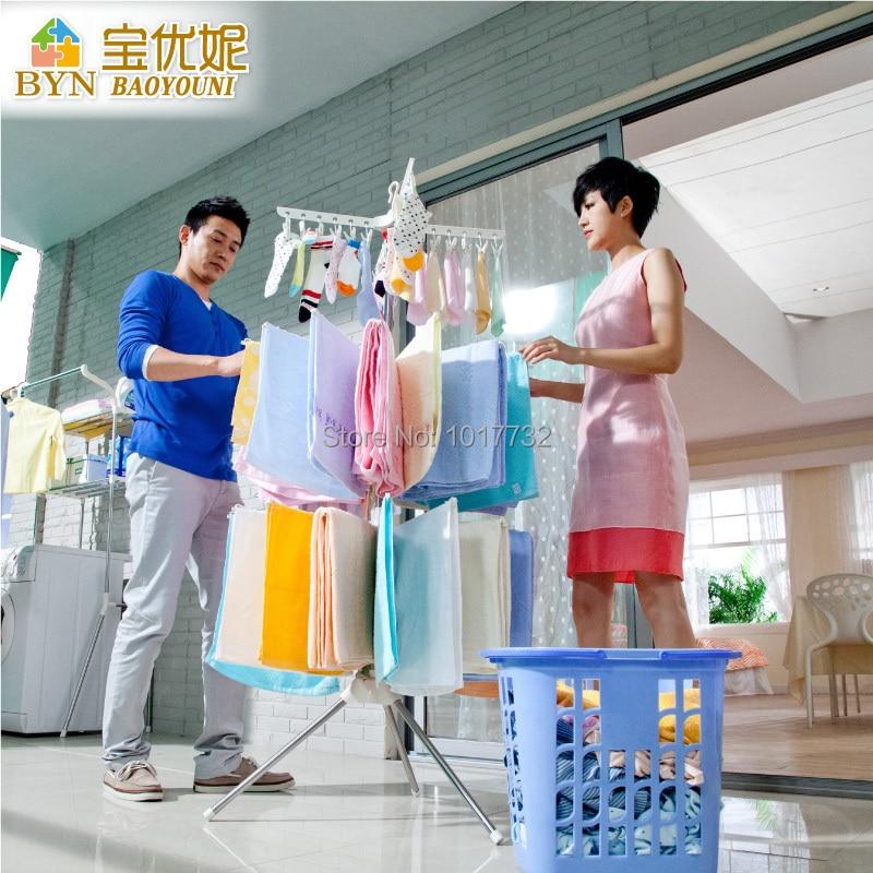 Child Racks Floor Folding Balcony Baby Diapers Hanger