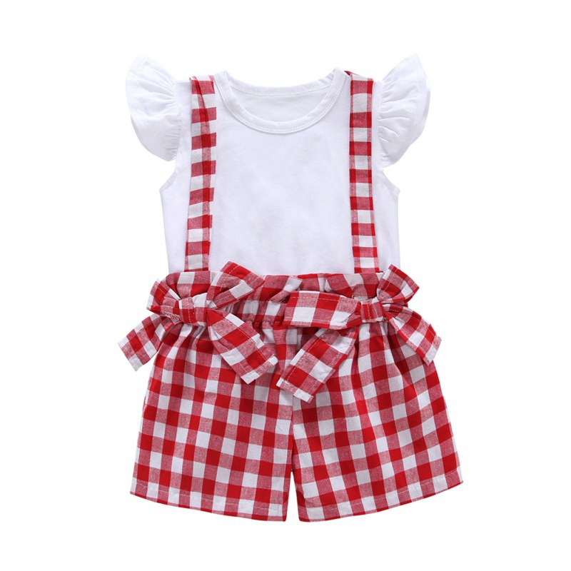 New Children's Short Sleeved Suit Baby Girls Clothing Kids Clothes Sets Toddler Costume