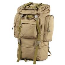 65L Men Outdoor Army Military Tactical Bag Backpack Large Size Camping Hiking Rifle Bag Trekking Sport Rucksacks Climbing Bags