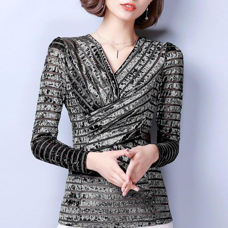 T Women's Female Hot Under Fashion Tops Silver Spring lavender Tees Slim Blue 2018 V Wholesale Casual Shirts gray Sexy Elegant Brand neck Twg4TrFxq