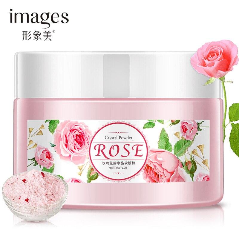 Natural Rose Petals Soft Collagen Mask Facial Powder Moisturizing Pores Shrink Whitening Beauty Salon Equipment 75g