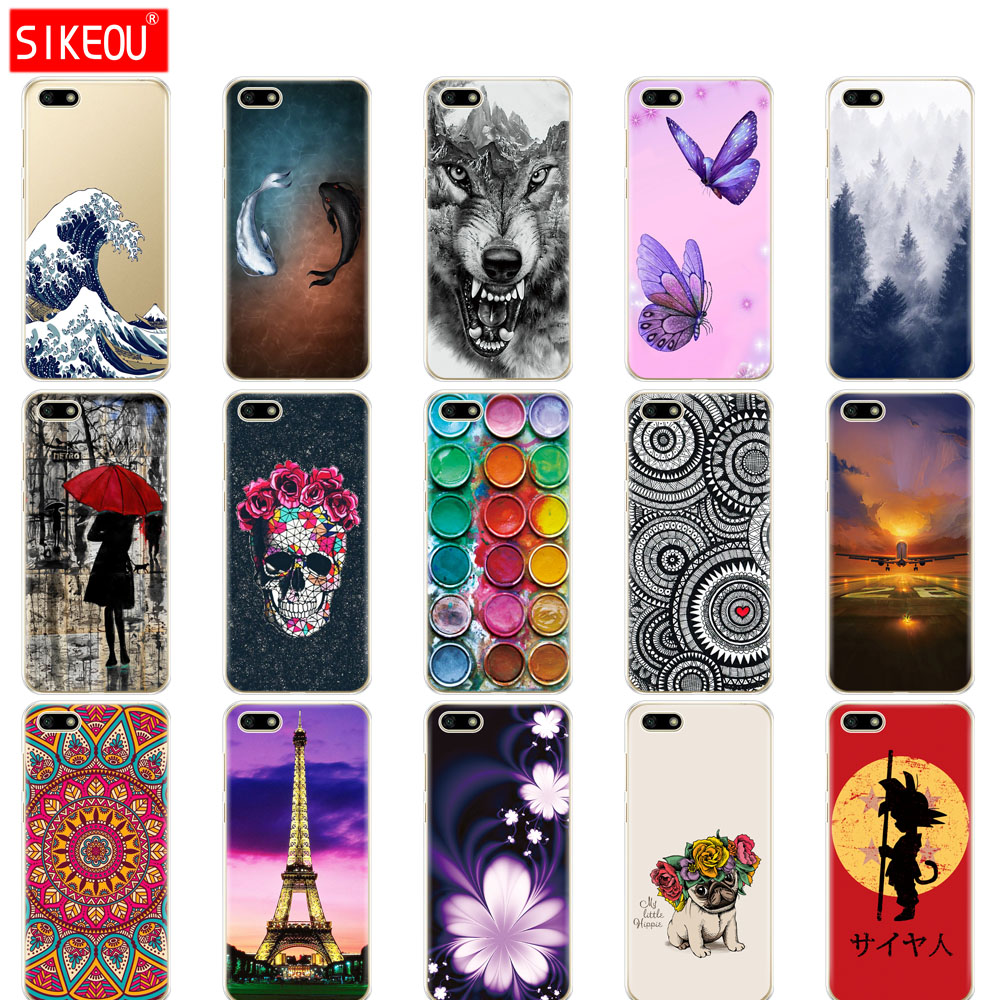 "Silicone case For Huawei Honor 7A Case 5.45"" inch Soft Phone Case on Huawei Honor 7A 7 A DUA-L22 Russian Back Cover Coque bumper"