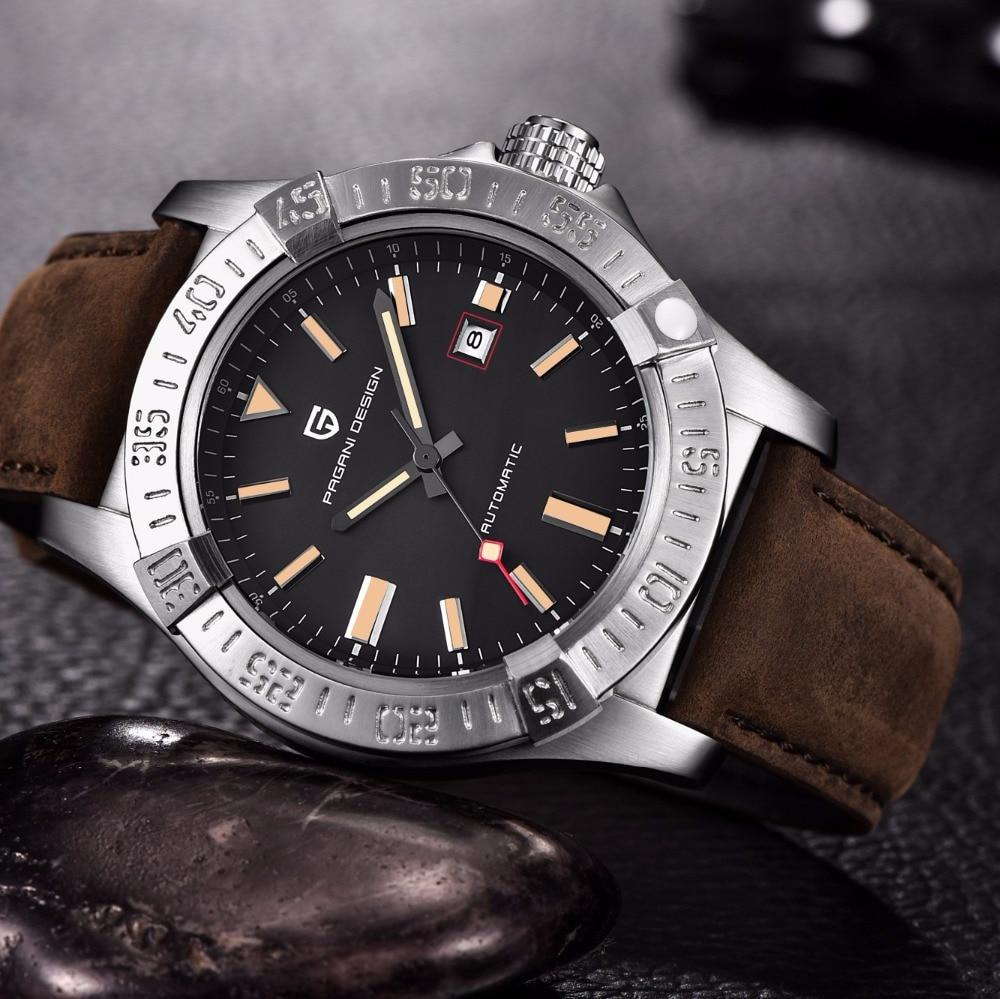 PAGANI DESIGN Brand Mechanical Watch Men Automatic Leather Strap Business Wist Watch Male Clock Relogio Masculino