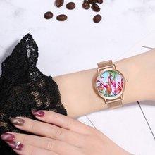 Minimalist INS Style Mesh Steel Quartz Dress Wristwatches Fa