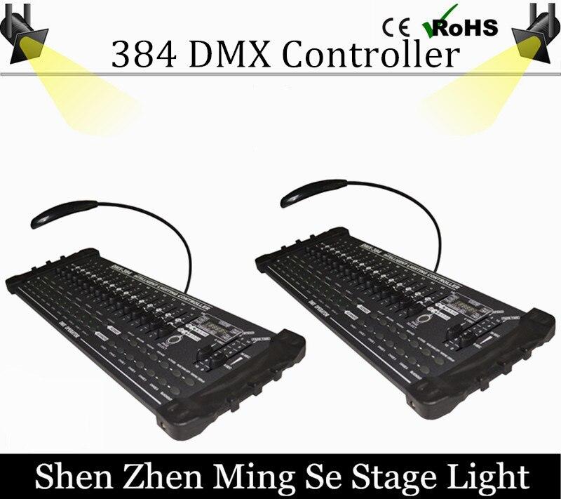 2Pcs/lots DMX 384 controller controller moving head beam light console DJ 512 dmx controller equipment dmx512 digital display 24ch dmx address controller dc5v 24v each ch max 3a 8 groups rgb controller