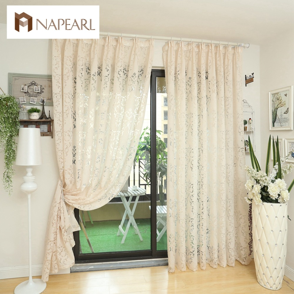 Napearl Modern Curtain Kitchen Ready Made Curtains Custom Window Living Room Blind Panel Balcony White In From Home Garden On