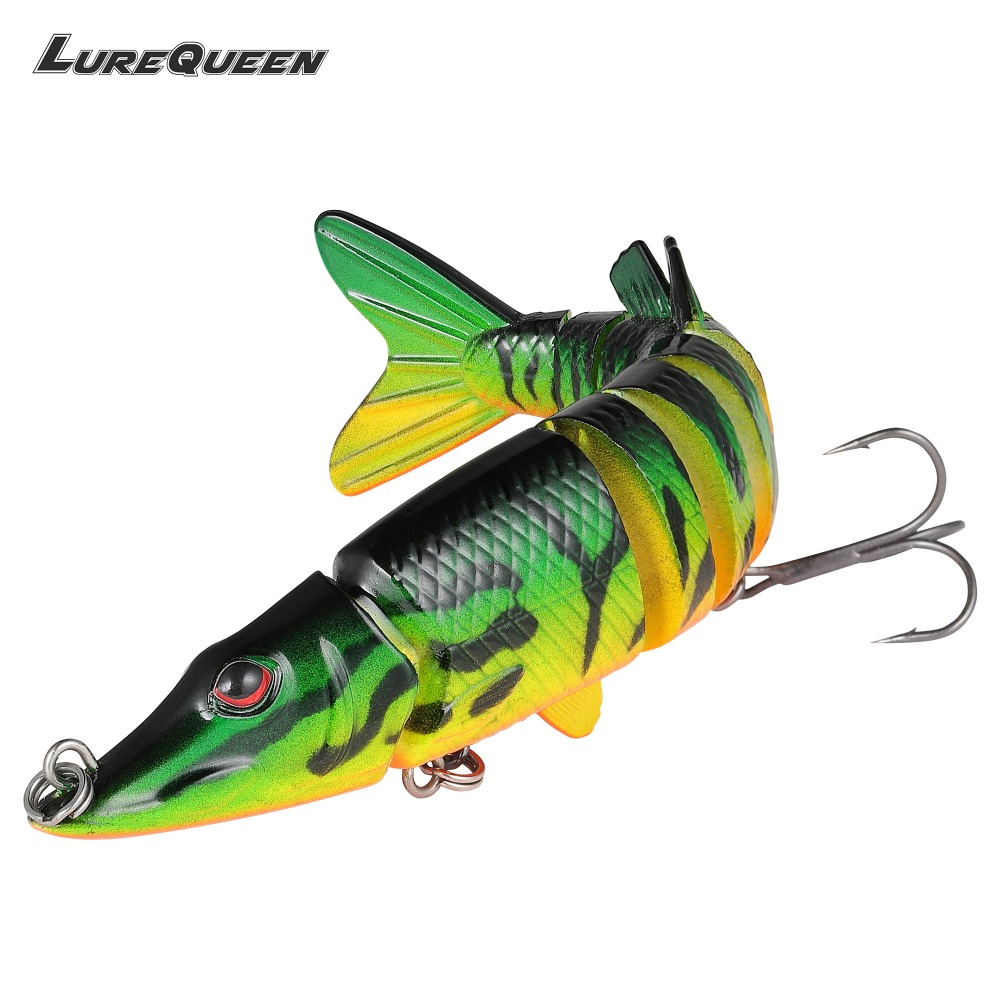 12cm 20g Artificial Pike bait 9 Multi Jointed Fishing Lures Swimbait Hard Bait Fishing Tackle Wobblers lure Crankbait Pesca bammax fishing lure 1 box metal iron hard bait sequins shore jigging spoon lures fishing connector pin fishing accessories pesca