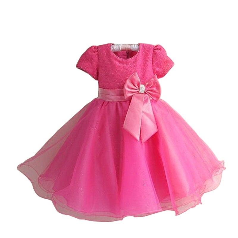 2016 nouvelle marque chaude mode princesse fille robe enfants bébé fille robe enfants vêtements robe filles Cosplay s'applique 3-10 âge - 3