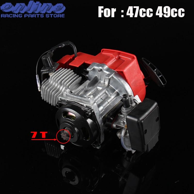 47cc 49cc карманный велосипед 2 такта тянуть старт двигатель для Мини картинг Байк Бензин Скутер ATV Карманный велосипед двигатель