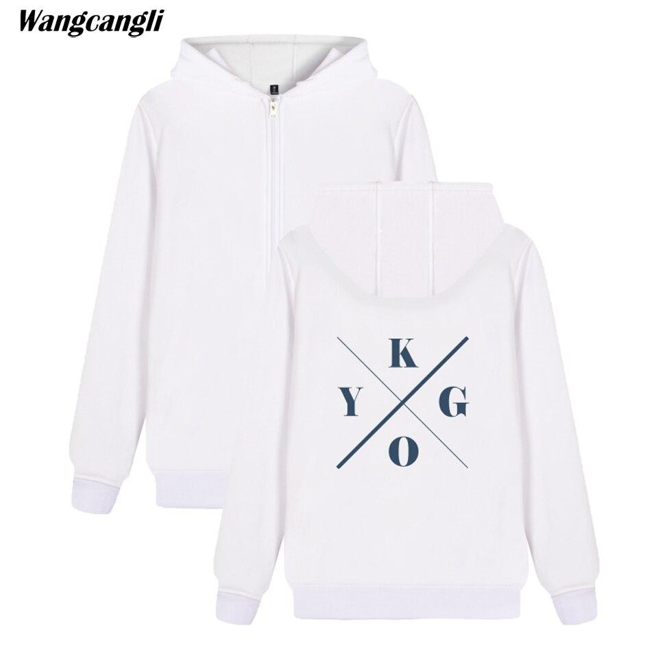2018 DJ Kygo Logo Custom Hip Hop Hoodie Autumn Zipper Hoodies women Coat Men/Women Casual Print Zip-up Hoodie Sweatshirt women