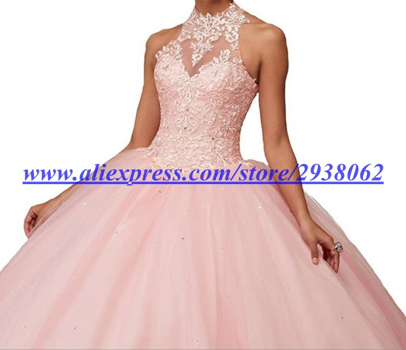 Pink Princess Ball Gown Dresses