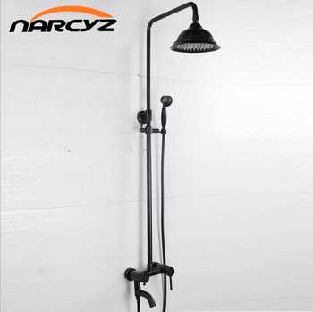 European-style retro black bronze lift shower shower set black antique brushed copper shower XT-306 - DISCOUNT ITEM  20 OFF Home Improvement