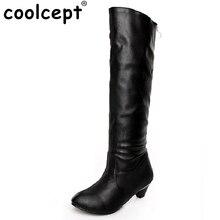 Бесплатная доставка колено сапоги женщин моды снег зима обувь клин обувь сексуальная теплая половина загрузки P7899 EUR размер 34-45