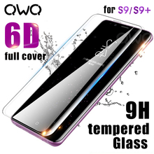 6D Full Curved Screen Protector For Samsung Galaxy S9 S8 Plus S7 Note 8 9 Tempered Glass For Samsung S9 Note9 Transparent Glass(China)