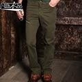 Осень случайные тонкий военные повседневные брюки мужской сумка плюс размер оснастки случайных брюки мужские свободные прямые брюки хлопка