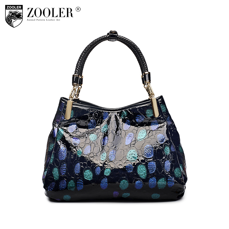 ZOOLER Brand Genuine Leather Handbag Vintage Real Leather Shoulder Luxury Handbag Women Bags Designer Handbags High Quality Tote zooler genuine leather genuine real cowhide small handbags high quality brand women plaid shoulder bags chain tote crossbody bag