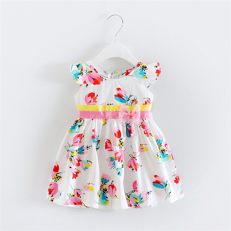 BibiCola summer baby girls dress toddler girls cotton dresses children summer floral clothing kids girls party princess dress bibicola cartoon children jeans dress baby girls cotton leisure overalls dress fashion toddler girl denim dress for summer