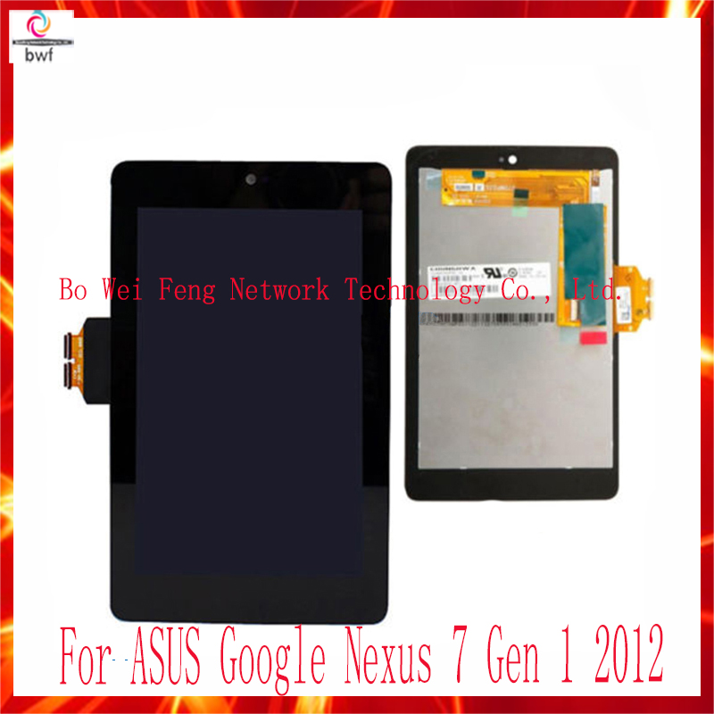 ФОТО 5Pcs/lot High Quality For ASUS Nexus 7 1st 2012 Touch Screen Digitizer+Display LCD Assembly Complete 7 inch