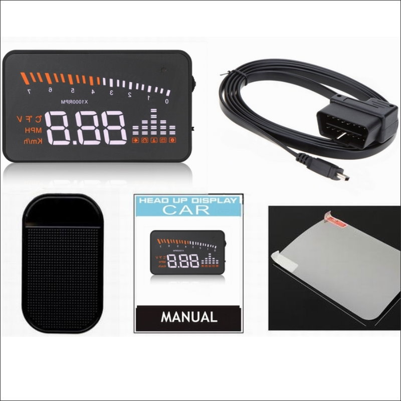 Car HUD Safe Drive Display For BMW X5 E53 E70 X6 E71 Refkecting Windshield Head Up Display Screen Projector in Head up Display from Automobiles Motorcycles