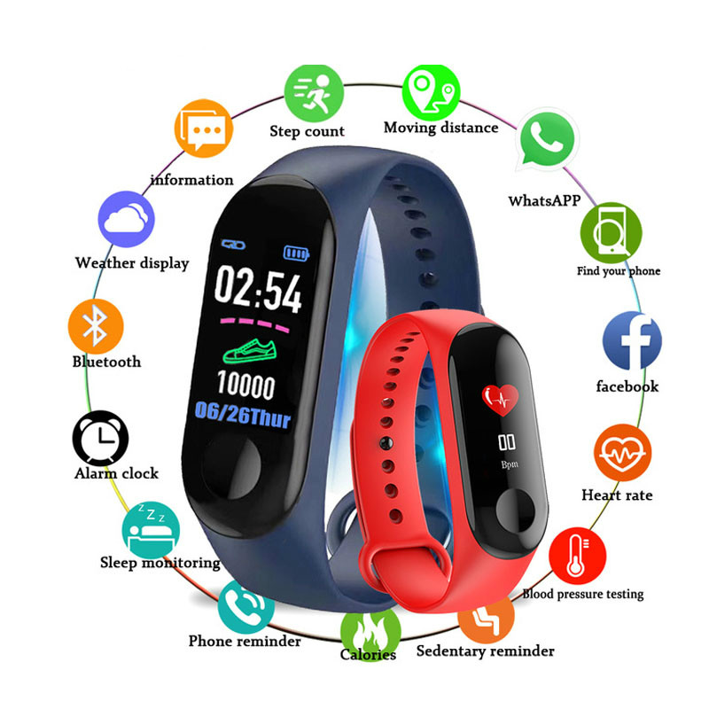 New Women Sport Waterproof Watch Blood Pressure Heart Rate Monitor Smart Watch Men Woman Fitness Tracker Pedometer Watches(China)