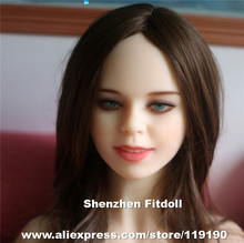 #134 sex doll heads, love doll head for silicone adult dolls, oral sex toys for men