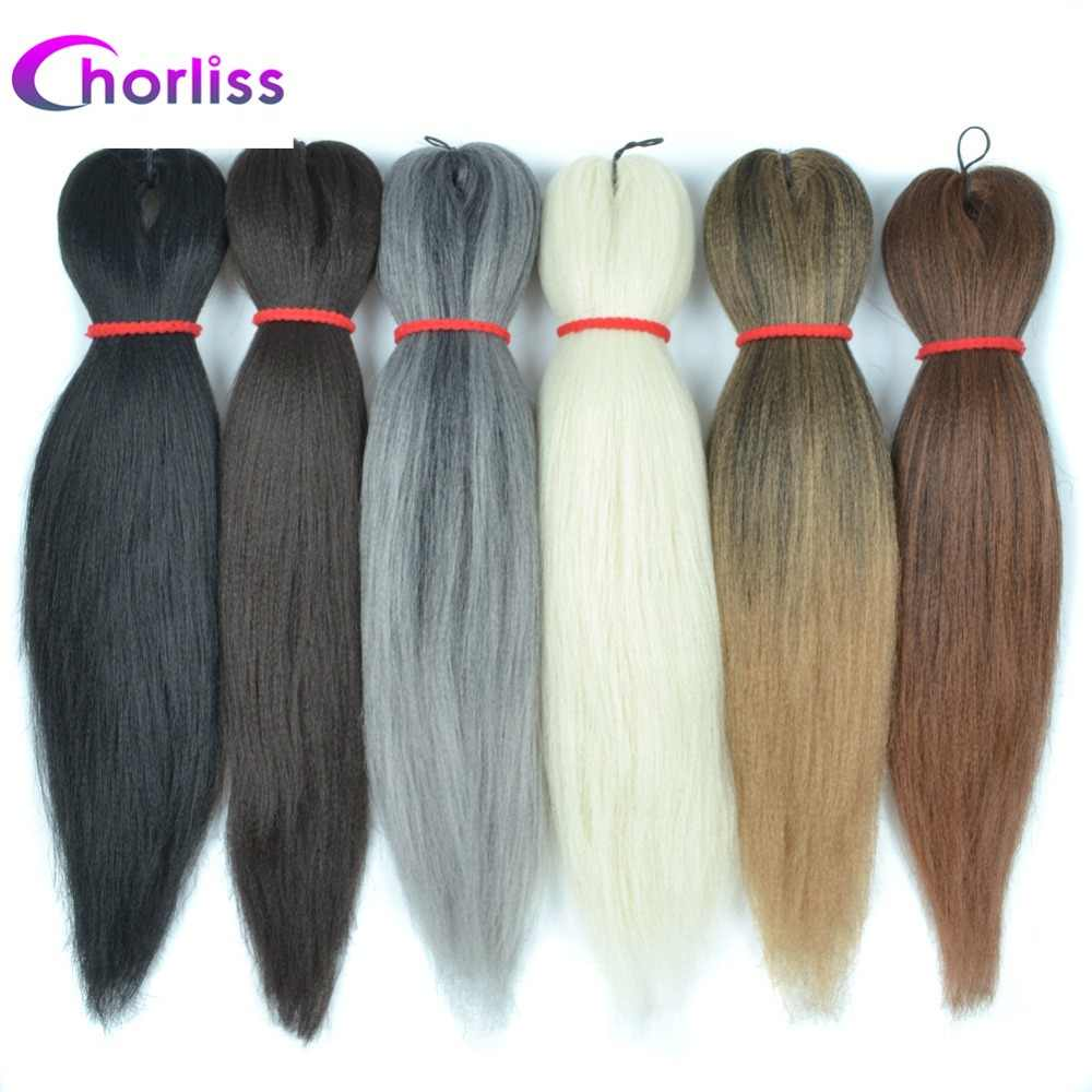 Chorliss EZ Braid Synthetic Hair Extensions Jumbo Braids Crochet Hair Ombre Braiding Hair Frosted Grey Blonde Black Easy Braids