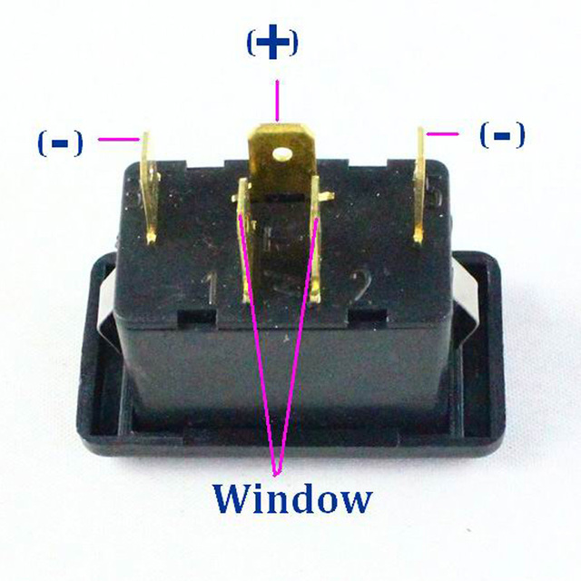 Kelimi Car power electric window lifter switch doors windows single 5 pin switch button with 6.3 mm Connector Plug Socket for VW
