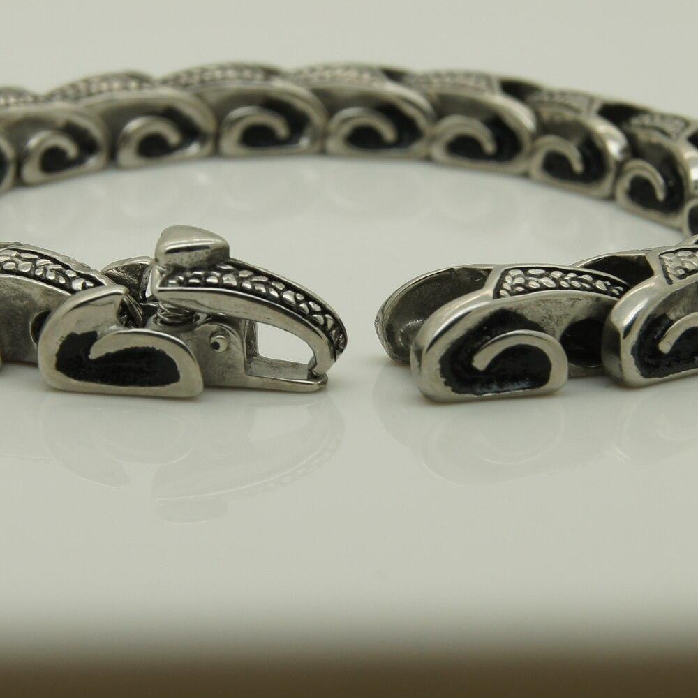 9 cal długości fajnych mężczyzn/chłopięcy smok bransoletka łańcuch ze stali nierdzewnej mężczyzn biżuteria bransoletki bransoletki & punk