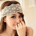 New Retro Mulheres Menina Do Laço Da Flor Praia Headband Faixa de Cabelo Ampla Headwraps Acessórios Para o Cabelo Frete Grátis
