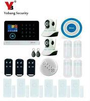 Yobang безопасности WI FI GSM домашняя охранная Охранной Сигнализации Системы Беспроводной Наборы приложение Управление rfid карты sms оповещение П