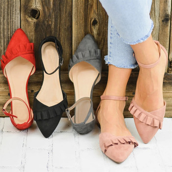 Women Casual Pointed Toe Shoes Flats Ladies Fashion Flat Solid Casual Loafers Single Shoes Women Girls Elegant Soft Shoes 1