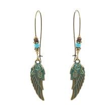 Wing Bohemia Vintage Ethnic Hook Dangle Hanging Drop Long Stainless Steel Statement Women Earrings цена 2017