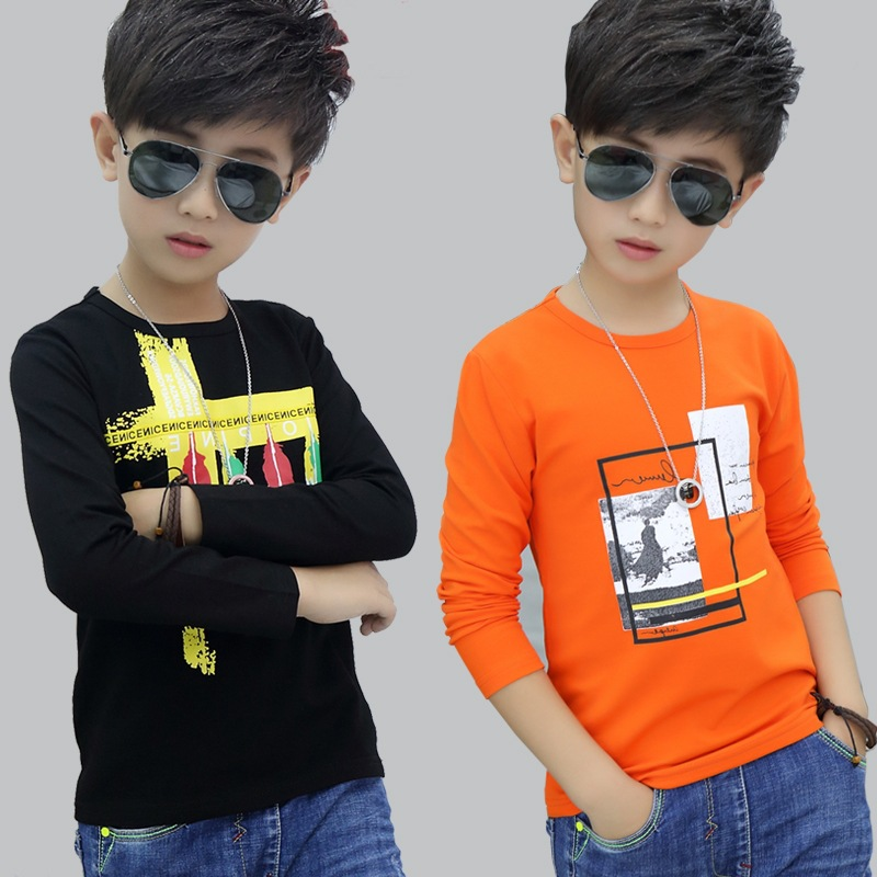 2018 Fashion Spring Autumn Children T Shirts Thin For Boys Long Sleeve T-shirts Child Clothing Kids Top Tees Good Quality Tshirt