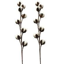 1 шт. 27,5 дюймов декоративный сушеный цветок 8 головы искусственный хлопок цветок стебель